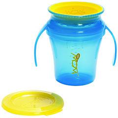 Pack de 2 vasos antiderrame bebé azul/verde
