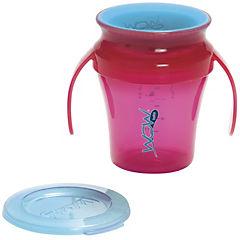 Pack de 2 vasos antiderrame bebé rosado/morado