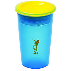 Pack de 2 vasos antiderrame juicy azul/naranjo