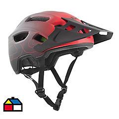 Casco bicicleta trailfox negro/rojo S/M