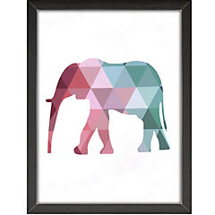 Cuadro Elefante 30x40 cm plástico