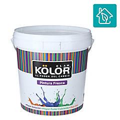 Esmalte al agua uso interior terminacion satin blanco/base 1 galon estandar