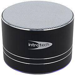 Parlante Bluetooth con luz negro