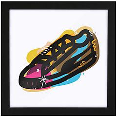 Cuadro sneakers 35x35 cm marco negro