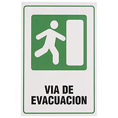 Señalética vía de evacuación