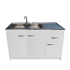 kit mueble cocina derecho 3 puertas 1 cajón 120 x 50 cm