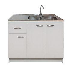 kit mueble cocina izquierdo 3 puertas 1 cajón 120 x 50 cm