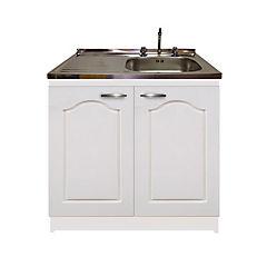 kit mueble económico blanco puerta lavaplatos izquierdo 100x50 cm