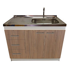kit mueble madera  cajones izquierdo+1 puerta 100x50 cm