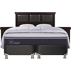 Box Spring Ortopedic Advance 2 plazas BD + muebles + 2 almohadas + plumón