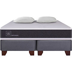 Box Spring New Ortopedic 2 plazas BD + 2 almohadas