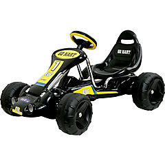 Go kart clasico negro a pedales