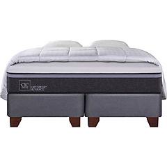 Box Spring Ortopedic Advance 2 plazas BD + 2 almohadas + plumón
