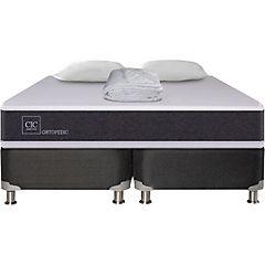 Box Spring New Ortopedic 2 plazas BD + 2 almohadas + cubrecolchón