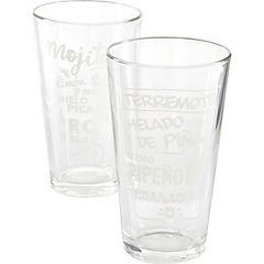 Juego 6 vasos altos tragos populares 475 ml
