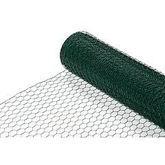 0.8x10 m Malla 1' hexagonal revestida en Plástico