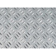 Lamina aluminio antiderrapante mm.1000x400