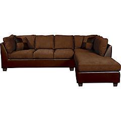 Seccional 280x212x90 cm marrón