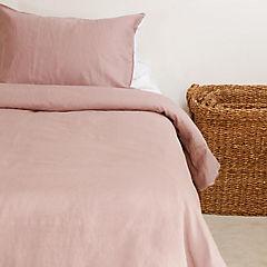 Funda para plumón + Almohada rosado 1,5 plazas