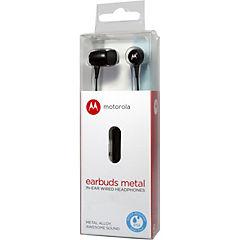 Audífono earbuds manos libres metal negro