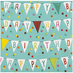 Servilleta papel 33x33 cm happy day 20 unidades