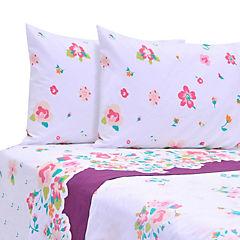 Juego de sábanas Floral 144 Hilos king