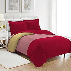 Quilt Cuzco microfibra 1,5 plazas rojo