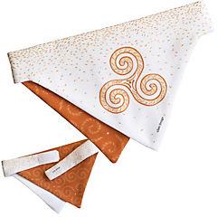 Bandana mascota trisquel naranjo