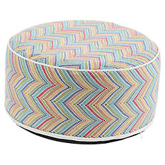 Pouf inflable & funda lavable mosaico
