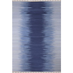 Alfombra Kelim Rainbow 140X200 Azul