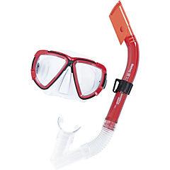 Mascara con snorkel rojo