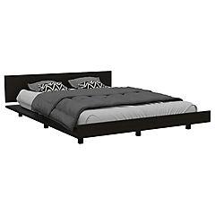 Set cama 2 plazas + clóset + cómoda 5 cajones wengue/miel