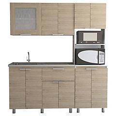 Kit cocina 3 muebles oak/blanco - Tuhome - 4025148