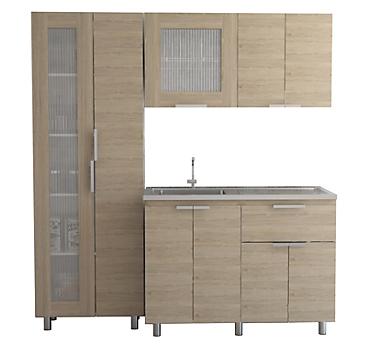 Kit cocina 3 muebles oak/blanco - Tuhome - 4027256
