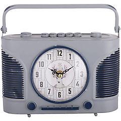 Reloj mesa 23x21 cm radio vintage