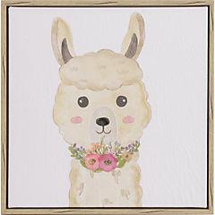 Canvas Infantil con gel Llama 32x32 cm