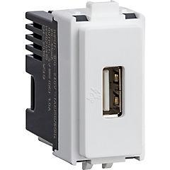 Módulo toma USB 1A 250V Blanco
