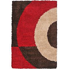Alfombra Shaggy 133x180 rojo