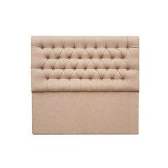 Respaldo capitoné premium súper king lino beige