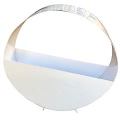 Macetero acero rueda blanco