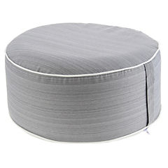 Pouf inflable & funda lavable gris