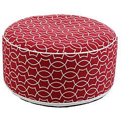 Pouf inflable & funda lavable rojo