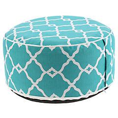Pouf inflable & funda lavable azul turquesa
