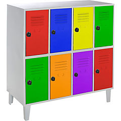 Lockers kids 8 puertas 110x50x120 cm multicolor