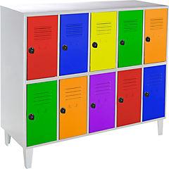 Lockers kids 10 puertas 137x50x120 cm multicolor