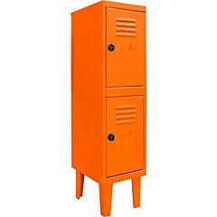 Locker kids 2 puertas 31x40x120 cm naranjo