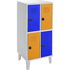 Locker kids 4 puertas 57x40x120 cm