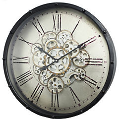 Reloj de metal negro