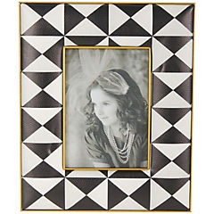 Marco de fotos de tela diseño de figuras geométricas 27 cm