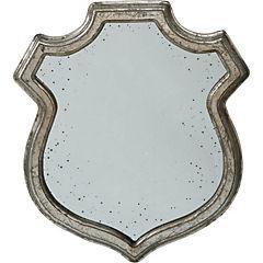 Espejo con marco de madera pintado plateado envejecido - Espejos con marco plateado ...